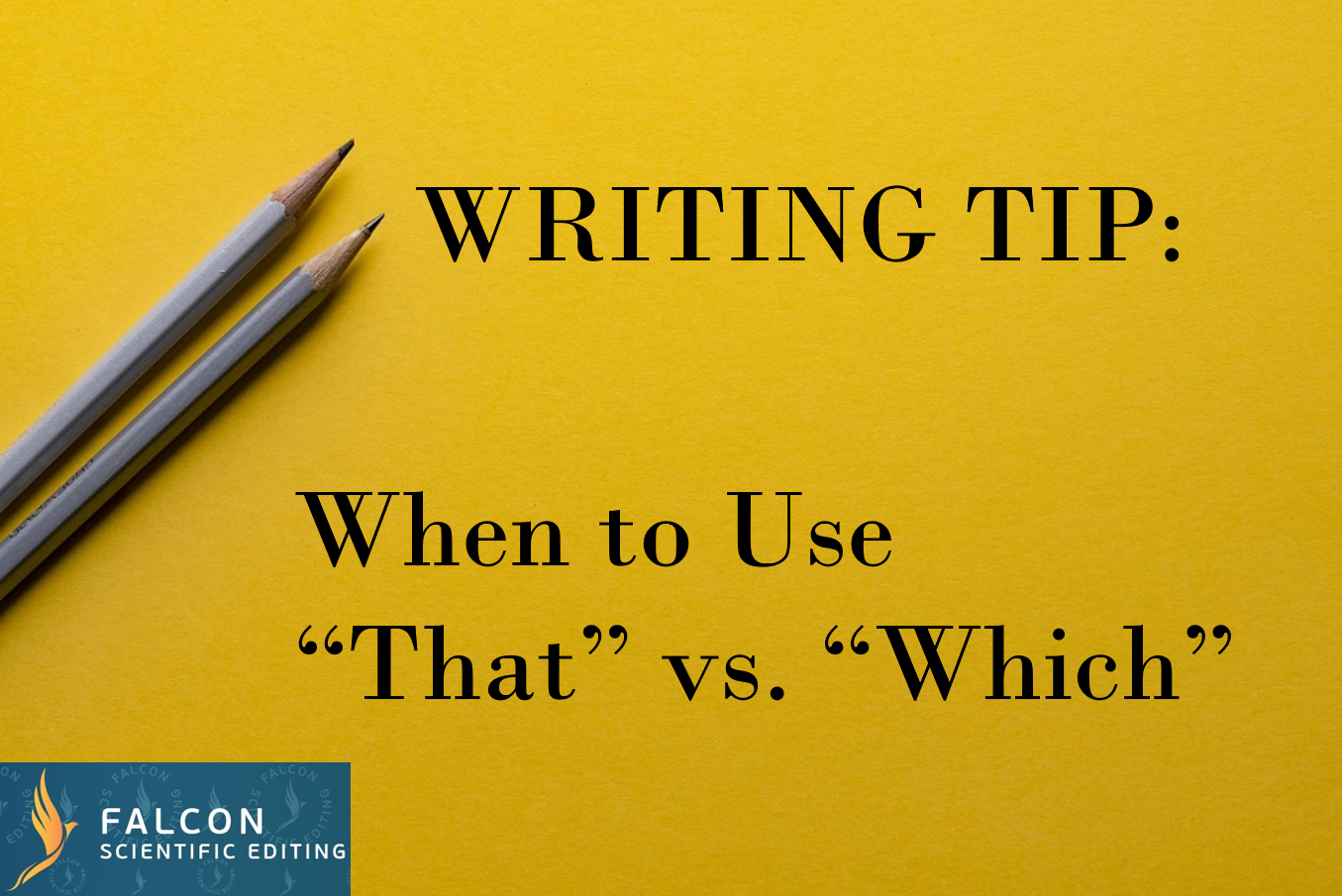 Writing tip: When to Use
